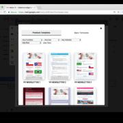 Galeria de modelos do Relaykit para o Gmail